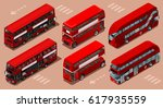 Red Bus Isolated Double Decker...