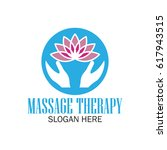 massage therapy logo with text... | Shutterstock .eps vector #617943515