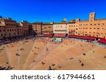 aerial view of siena  campo... | Shutterstock . vector #617944661