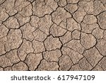 Dry and cracked earth texture. Global climate change.