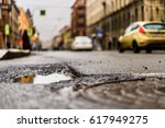 rainy day in the big city  the...   Shutterstock . vector #617949275