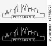 Pittsburgh Skyline. Linear...