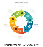 business circle arrows... | Shutterstock .eps vector #617952179