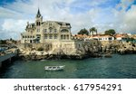 sea view from cascais  with... | Shutterstock . vector #617954291