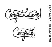 congratulations. hand lettering ... | Shutterstock .eps vector #617959055
