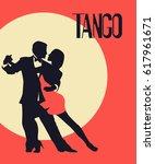 tango poster. elegant couple...