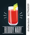 poster with alcohol cocktail.... | Shutterstock .eps vector #617963039