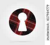 red  black isolated tartan icon ... | Shutterstock .eps vector #617964779