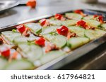 cucumber  carrot and cream... | Shutterstock . vector #617964821