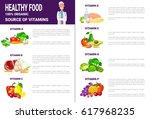 healthy food infographics... | Shutterstock .eps vector #617968235