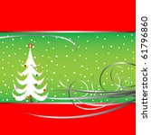 christmas tree card  abstract... | Shutterstock . vector #61796860