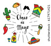 symbols of mexican culture and...   Shutterstock .eps vector #617971421
