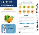 healthy food infographics... | Shutterstock .eps vector #617971634