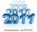 blue  2011 3d background and... | Shutterstock . vector #61797472