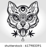 hand drawn beautiful artwork of ... | Shutterstock .eps vector #617983391