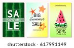 set of summer sale banner... | Shutterstock .eps vector #617991149