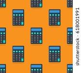 calculators. colorful... | Shutterstock .eps vector #618001991