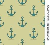 vector background of anchors. | Shutterstock .eps vector #618002909