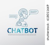 chat bot concept with message... | Shutterstock .eps vector #618011669
