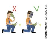 information poster. safety... | Shutterstock .eps vector #618022511