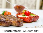 garnish for steak | Shutterstock . vector #618024584