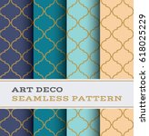 art deco seamless pattern with... | Shutterstock .eps vector #618025229
