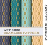 art deco seamless pattern with... | Shutterstock .eps vector #618025259