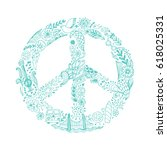 vector peace symbol made of... | Shutterstock .eps vector #618025331