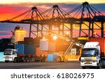 industrial logistics and... | Shutterstock . vector #618026975