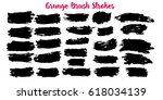 set of grunge banners. abstract ... | Shutterstock .eps vector #618034139