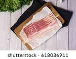 Fresh Raw Cold Sliced Bacon...