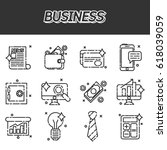 business flat icon set for web...
