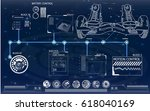 futuristic user interface for...   Shutterstock .eps vector #618040169