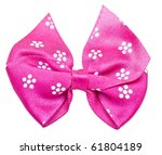 Pink Festal Bow Isolated On...