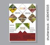 design a brochure template ... | Shutterstock .eps vector #618045035