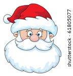 Illustration Of A Santa Head