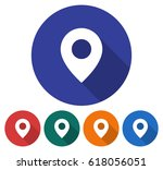 round icon of location. flat...   Shutterstock . vector #618056051