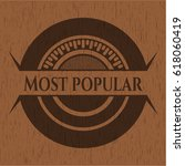 most popular retro style wood... | Shutterstock .eps vector #618060419