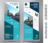 business roll up. standee... | Shutterstock .eps vector #618060815