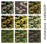 camouflage pattern background... | Shutterstock .eps vector #618062039