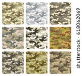 camouflage pattern background... | Shutterstock .eps vector #618062069