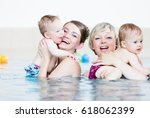 mothers and their little babies ... | Shutterstock . vector #618062399