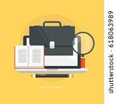 online job search  online job ... | Shutterstock .eps vector #618063989