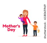 happy mothers day. mother's... | Shutterstock .eps vector #618065969