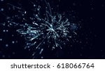 particles background. dust... | Shutterstock . vector #618066764
