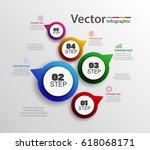 vector infographics design and ... | Shutterstock .eps vector #618068171
