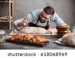 picture of young concentrated...   Shutterstock . vector #618068969