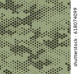 camouflage pattern background... | Shutterstock .eps vector #618074099