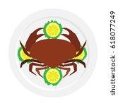 crab  icon  logo  symbol.... | Shutterstock .eps vector #618077249