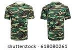 mannequin in military t shirt ... | Shutterstock . vector #618080261